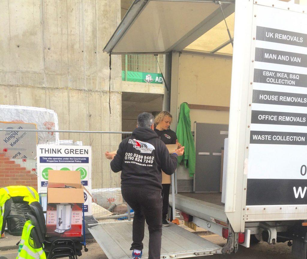 Removal vans in London