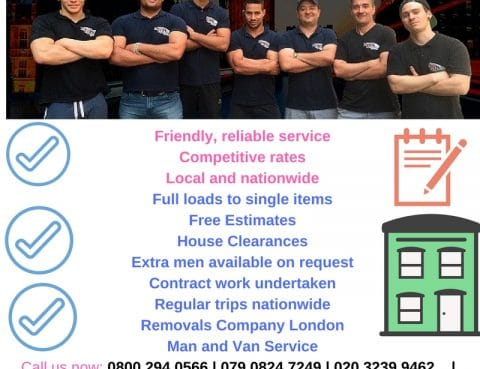 removal companies canary wharf