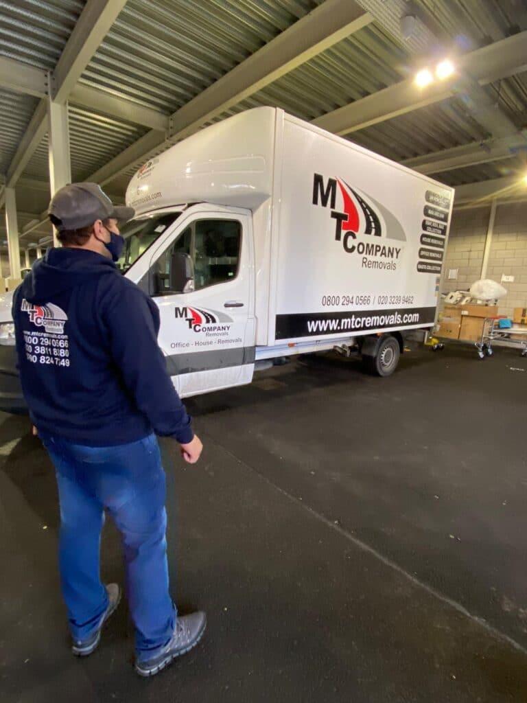 man with van east london
